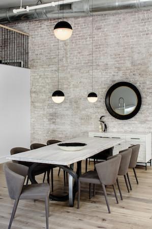 Industrial loft dining table