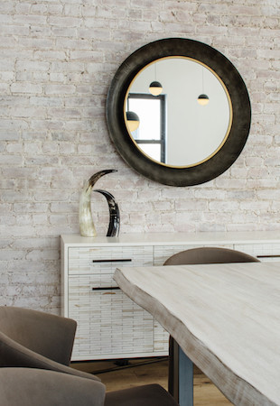 industrial loft dining console