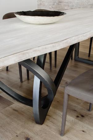 Industrial loft live edge wooden table