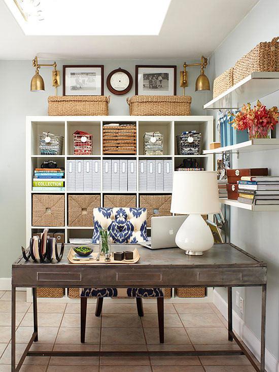 open shelf home office