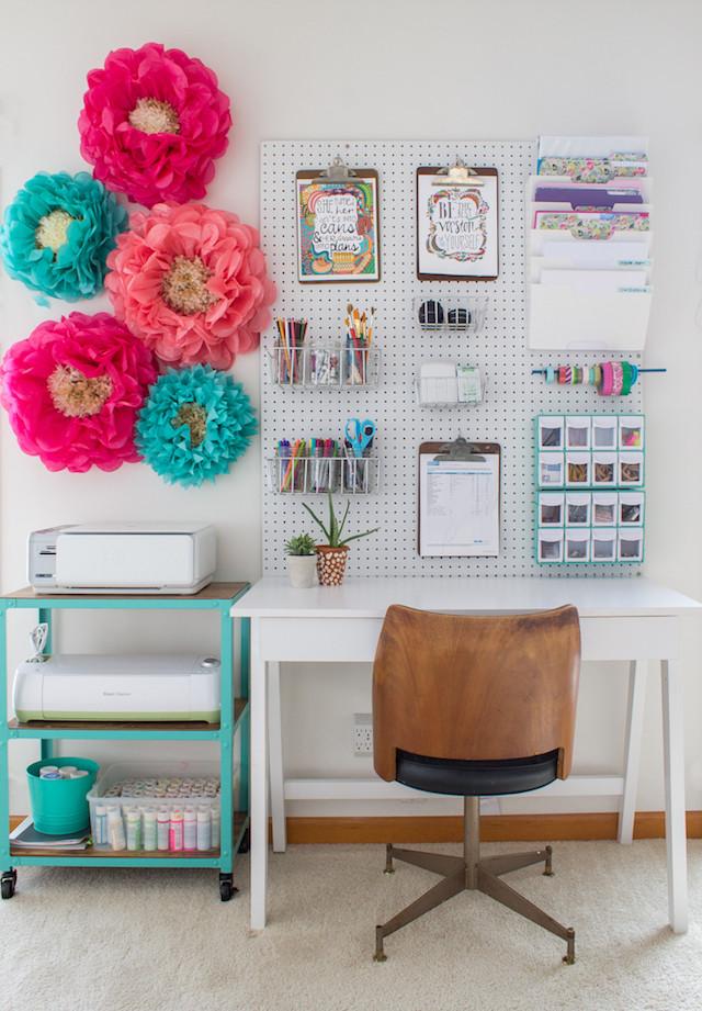 Breadboard wall home office