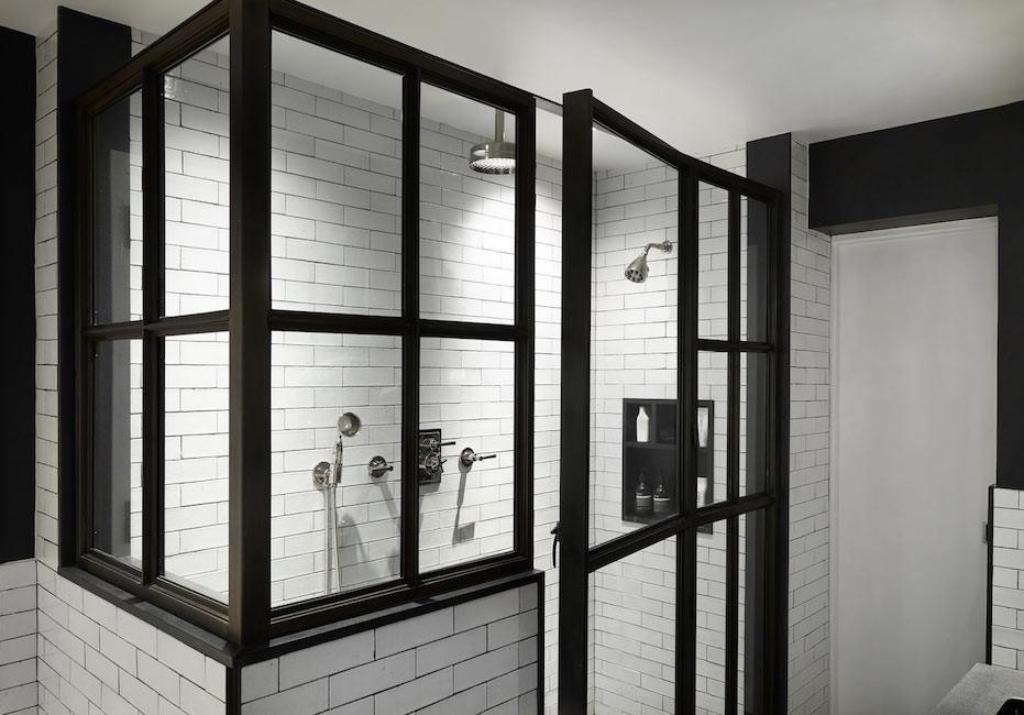 Downtown duplex master bathroom