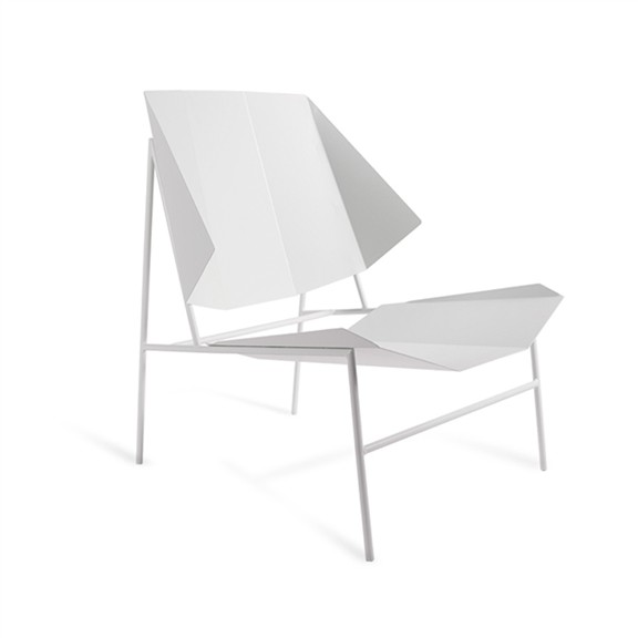 Arango geometric modern white chair Miami FL