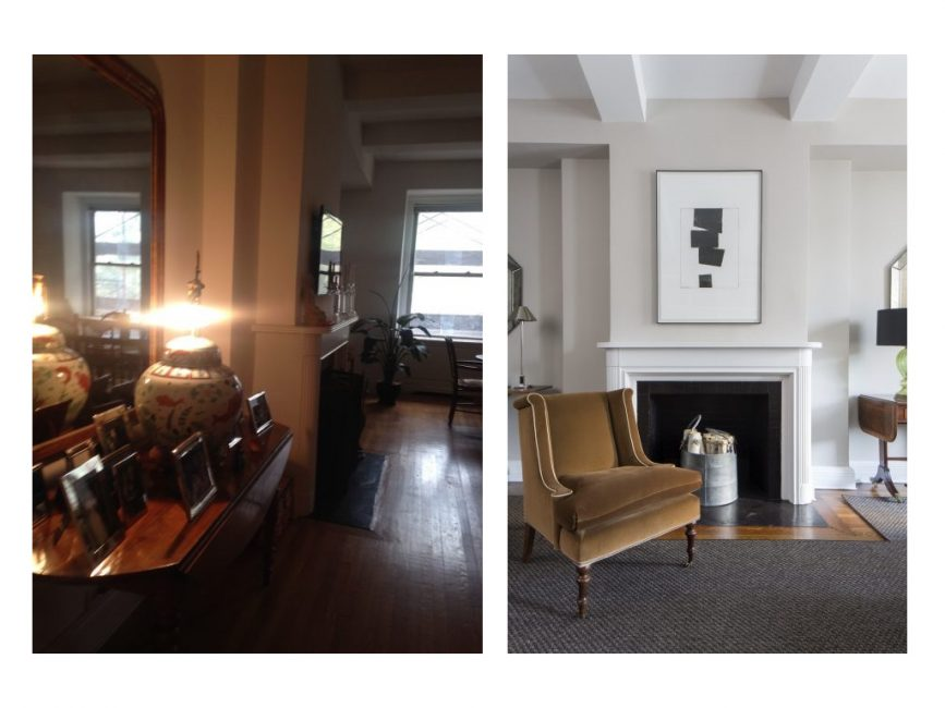 Redesign the pre-war fireplace