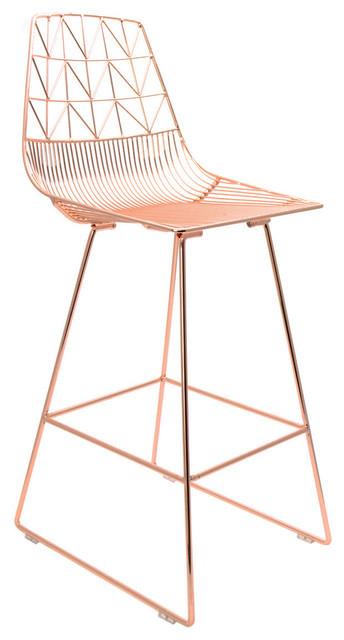 Copper wire counter stool