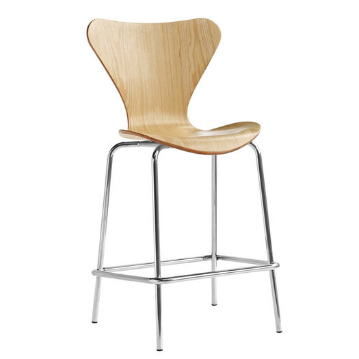 Wood metal counter stool