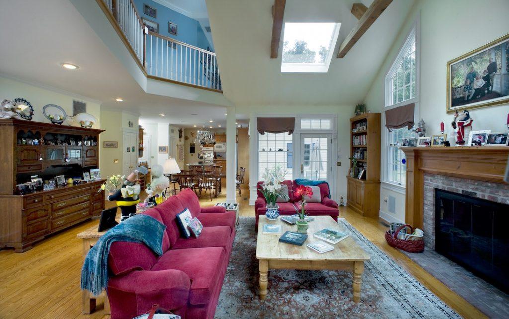 modern Connecticut mansion living room