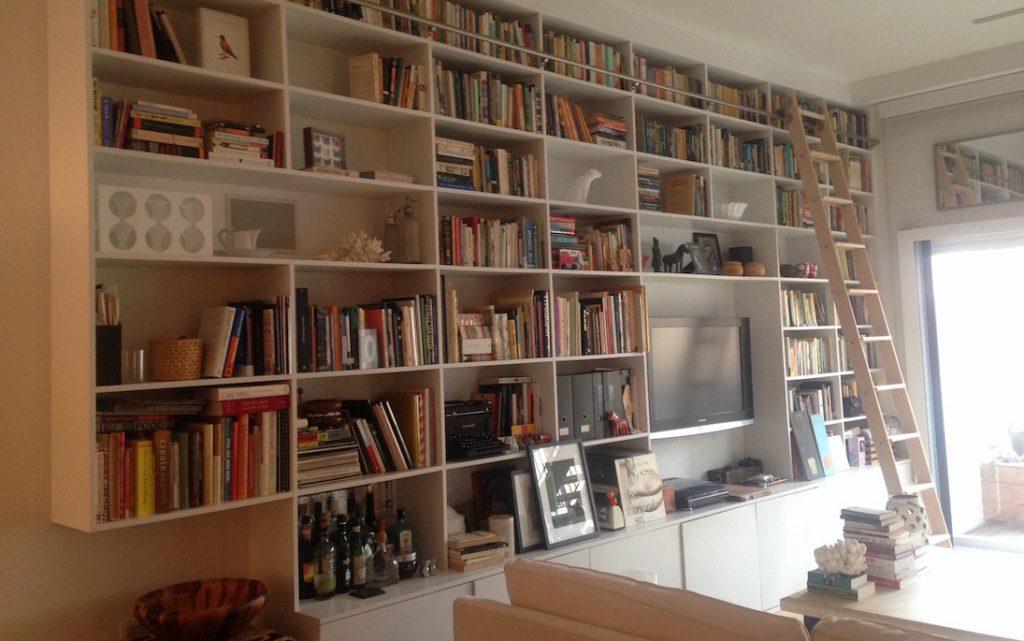 Hoboken townhouse bookshelves