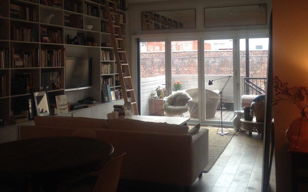 Hoboken townhouse living room in front