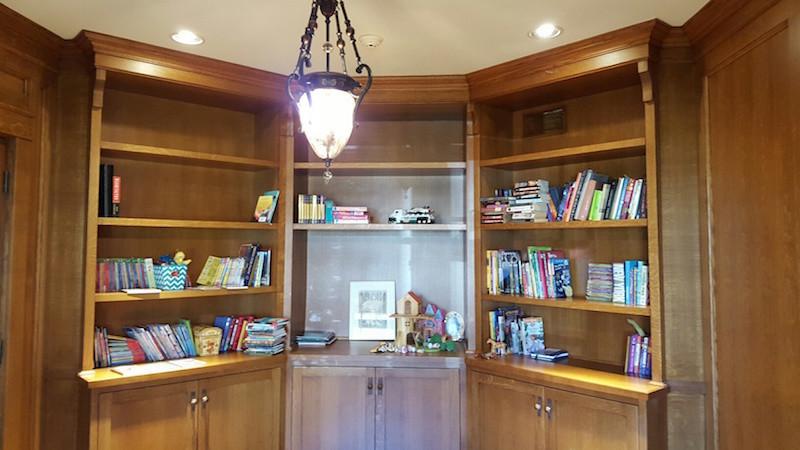 New Jersey Home Office built-in bookshelves