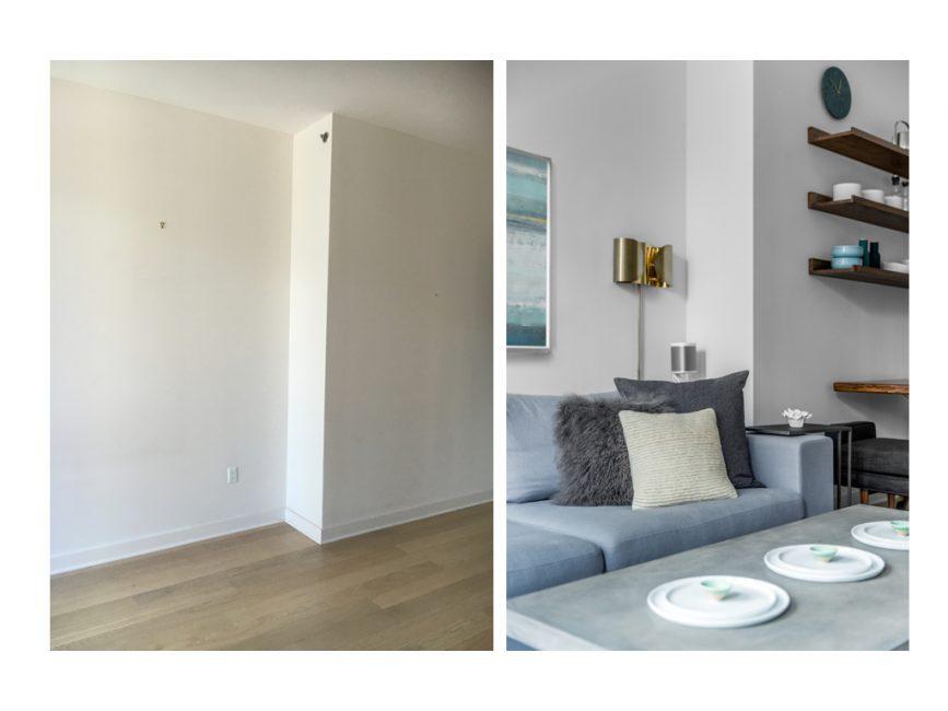 minimalist living room wall lamp