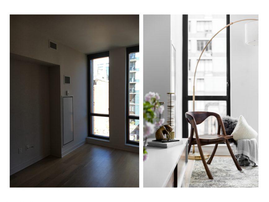 minimalist reading corner