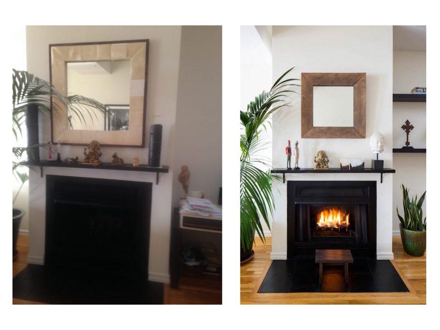 refined bachelor fireplace