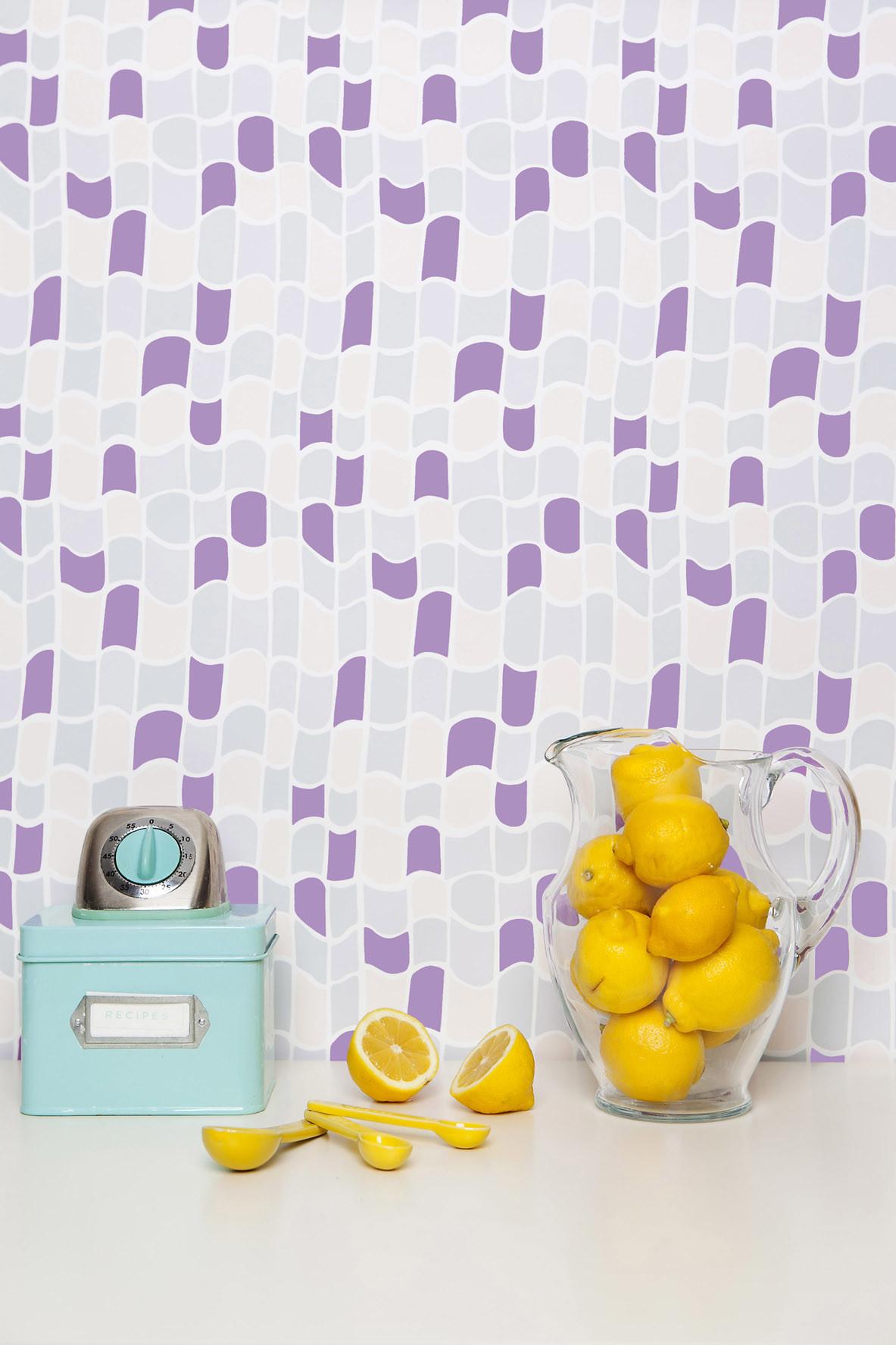 purple gray abstract print wallpaper
