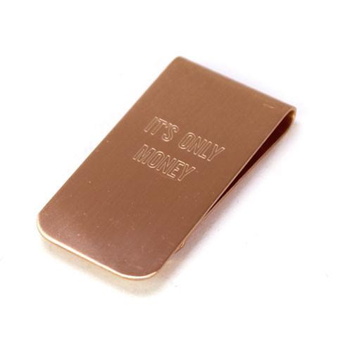 solid copper money clip