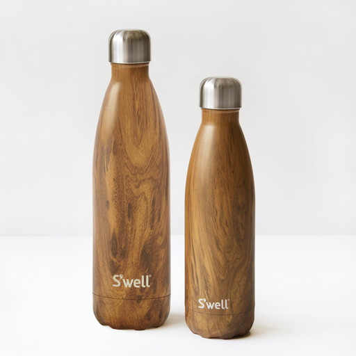 Teak insulated water bottle