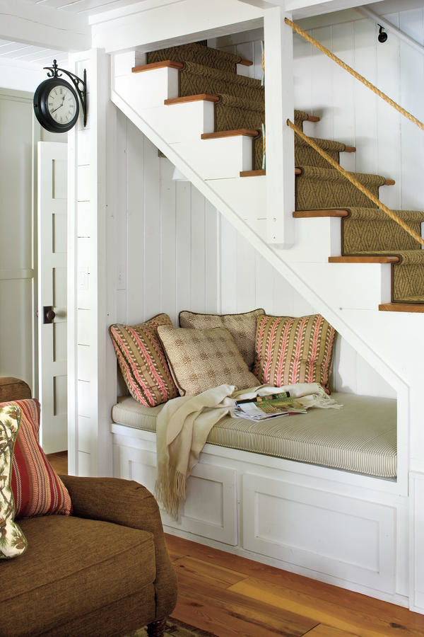 reading corner under the stairs