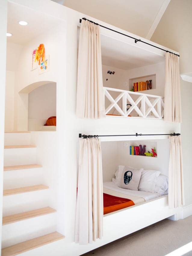 Stair curtains bunk bed