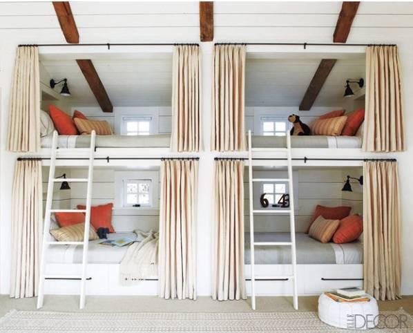 Bunk beds reading lights window