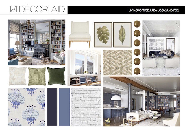 Living room inspiration board