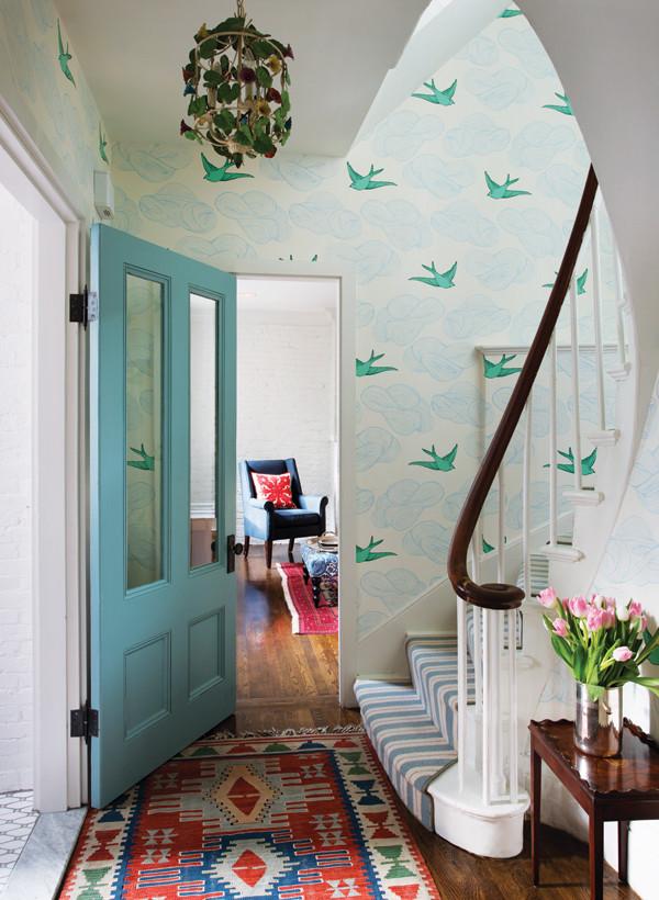 Bird wallpaper entrance