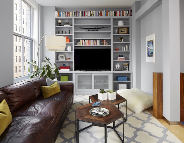 built-in TV bookcases