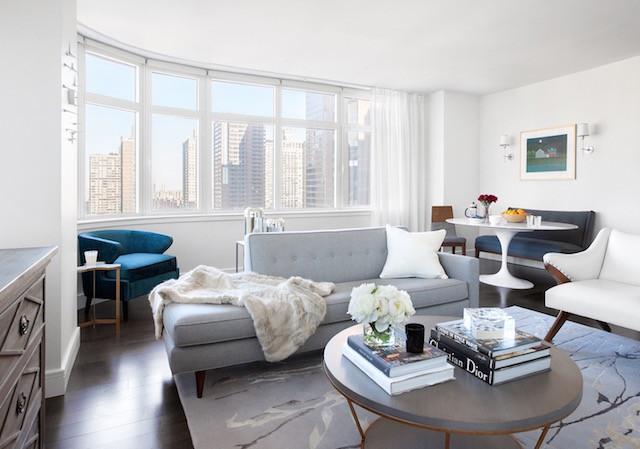 gray mod living room