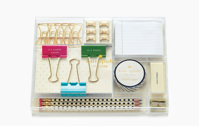 Lucite Desk Organizer Set