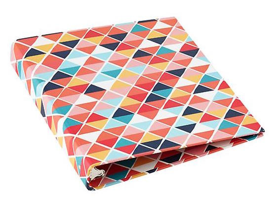 graphic triangle print folder