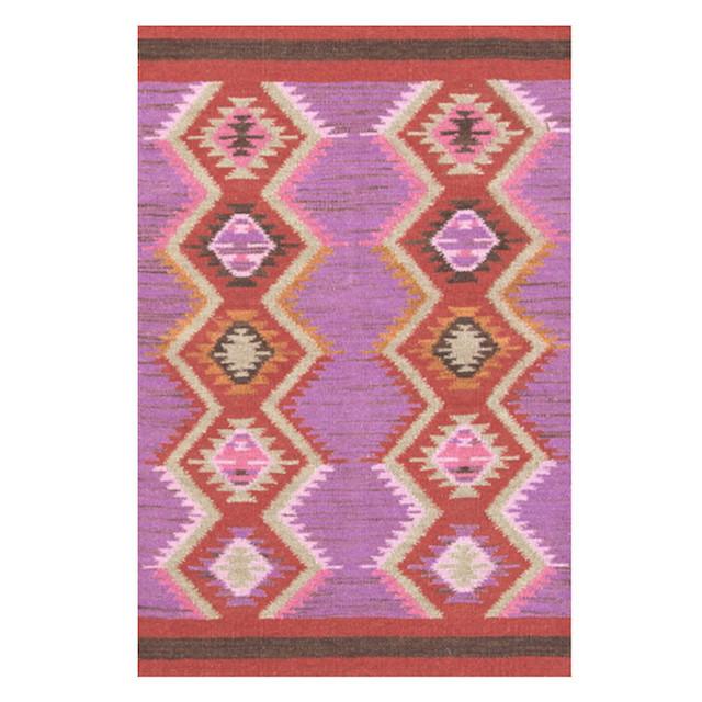 purple red kilim rug