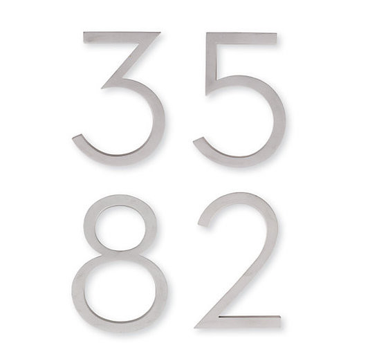 modern house numbers made of aluminum neutrals