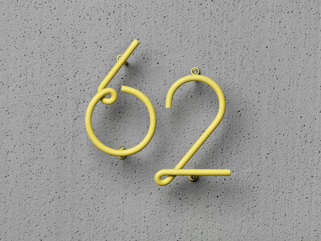 Wire house numbers