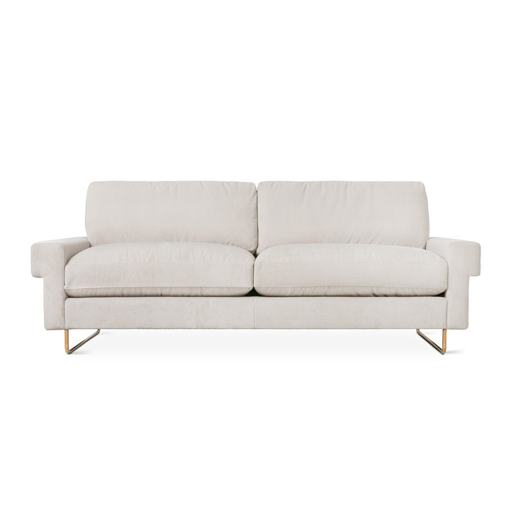 white sofa with two pillows