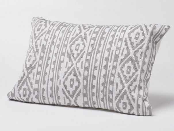 embroidered pillow made of organic cotton