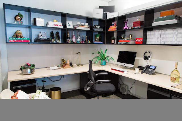 Office with open shelves