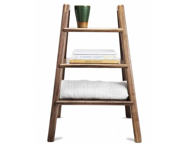 Walnut step stool
