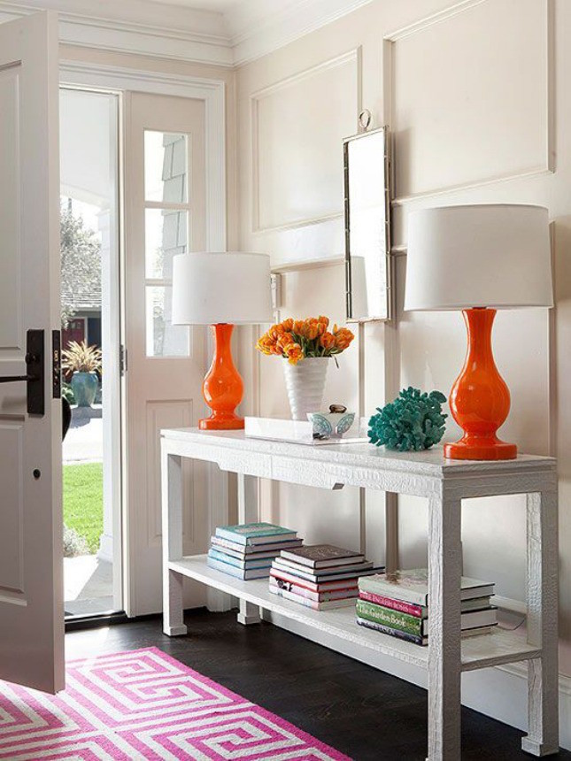 colorful entrance table