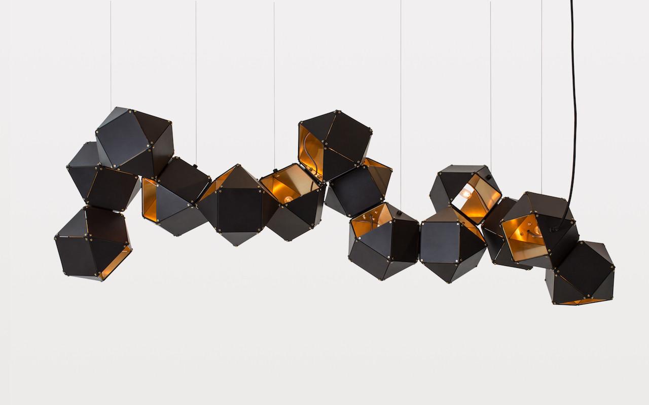 geometric black chandelier