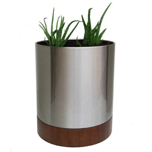 white lacquered wooden planter