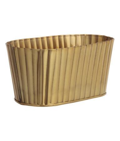 oval metal pot