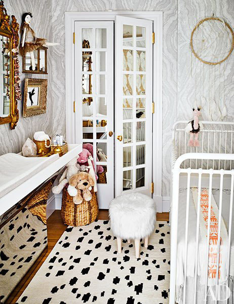 Mirror in the glamorous children's room