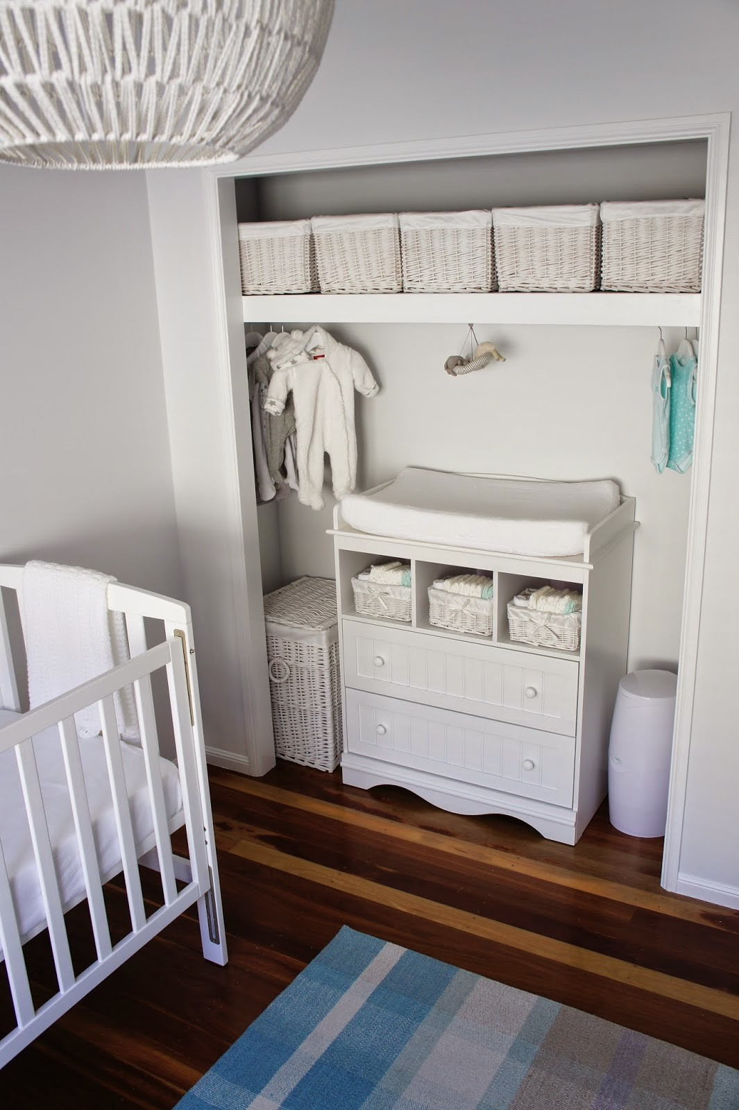 Smart storage closet nursery