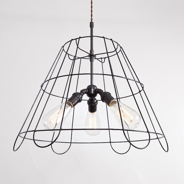 Lampshade frame chandelier