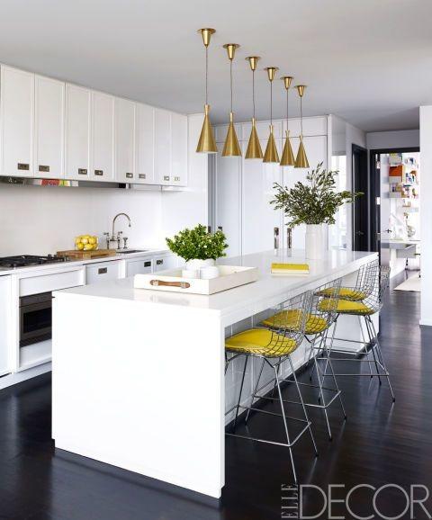 white marble top kitchen island