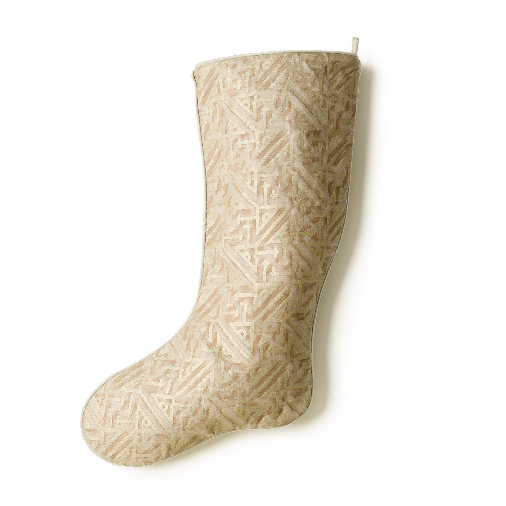 forty gold Christmas stocking