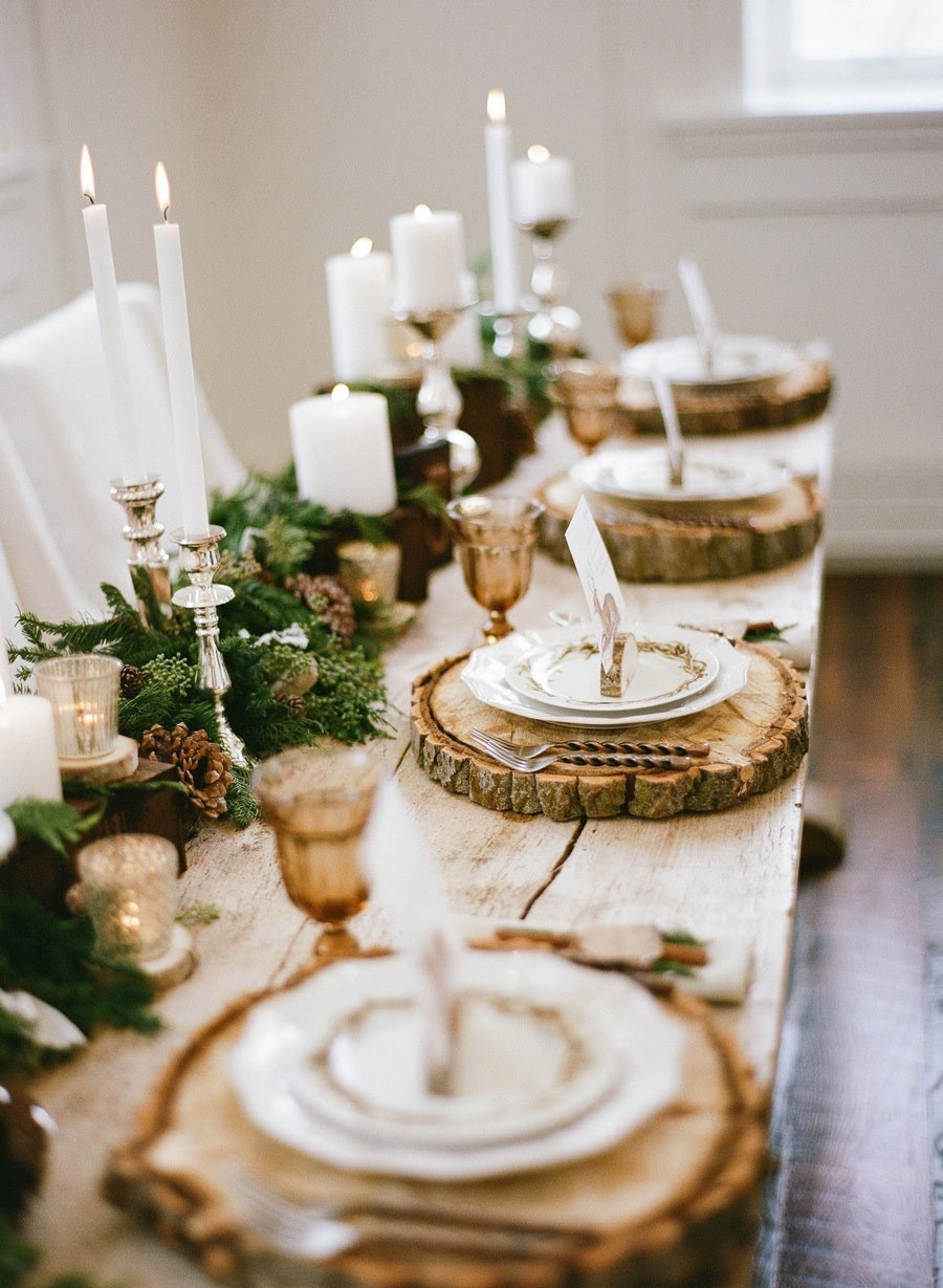 rustic dining table setting