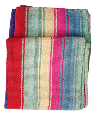Striped geometric throw from Bolivia