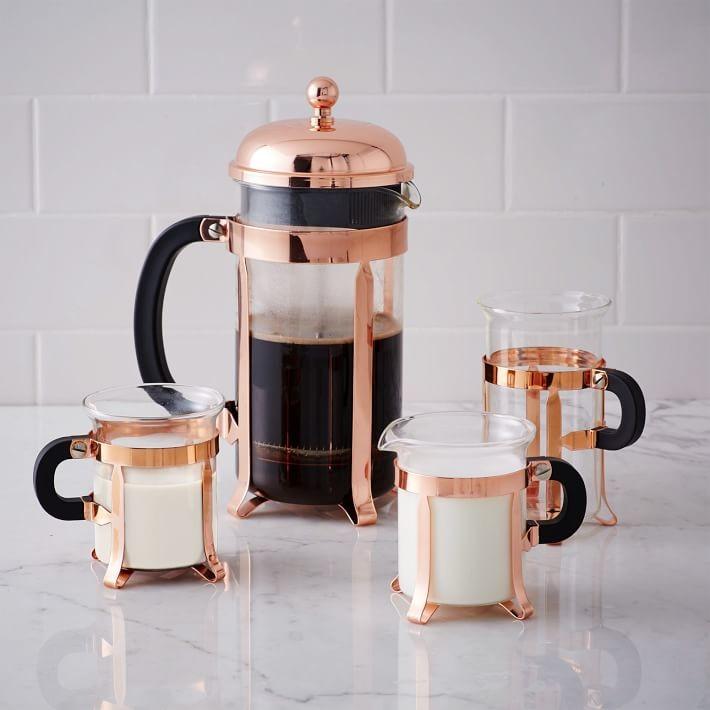 Copper French Press Coffee Set