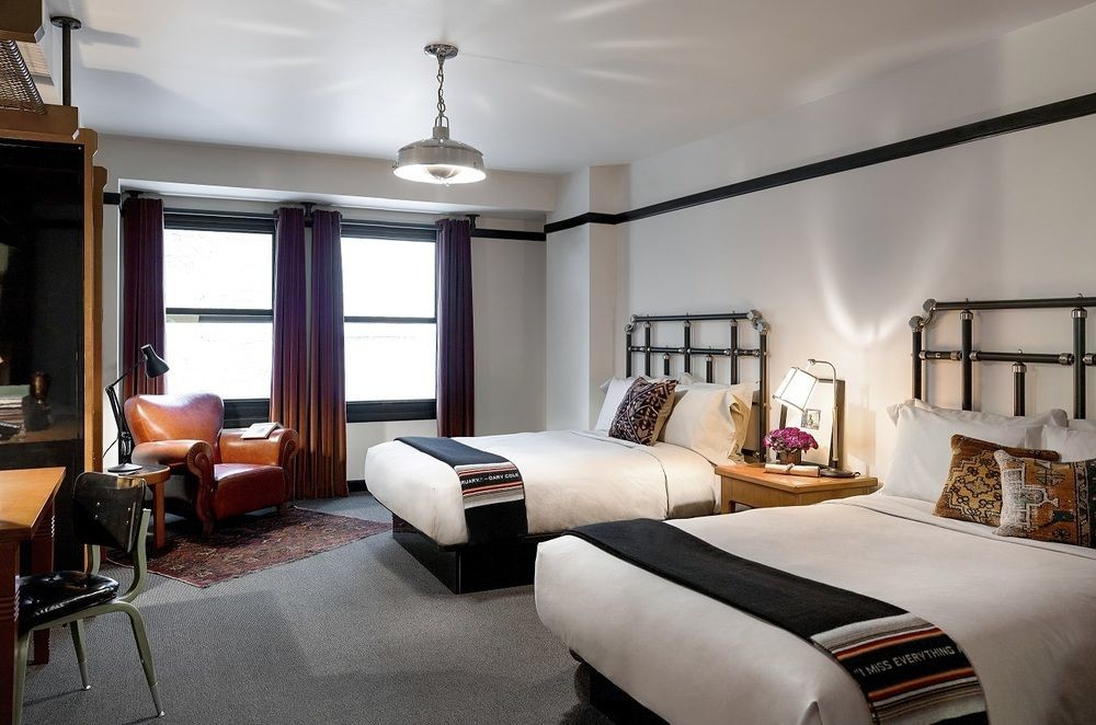 masculine guest room hospitality design