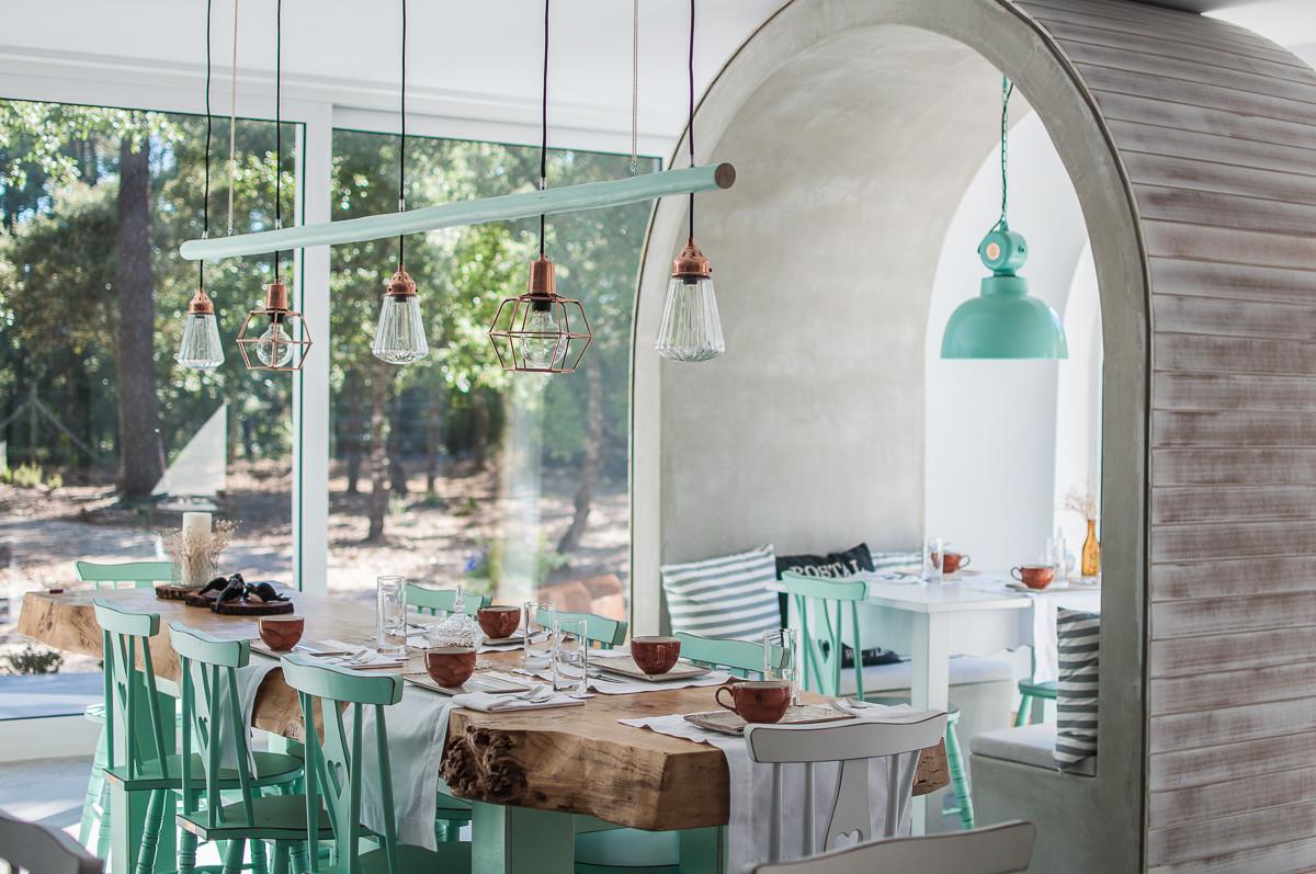 Mint dining room decor